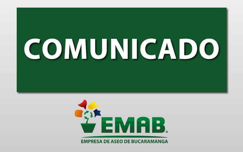 Durante Semana Santa la EMAB S.A. E.S.P. prestará todos sus servicios en completa normalidad