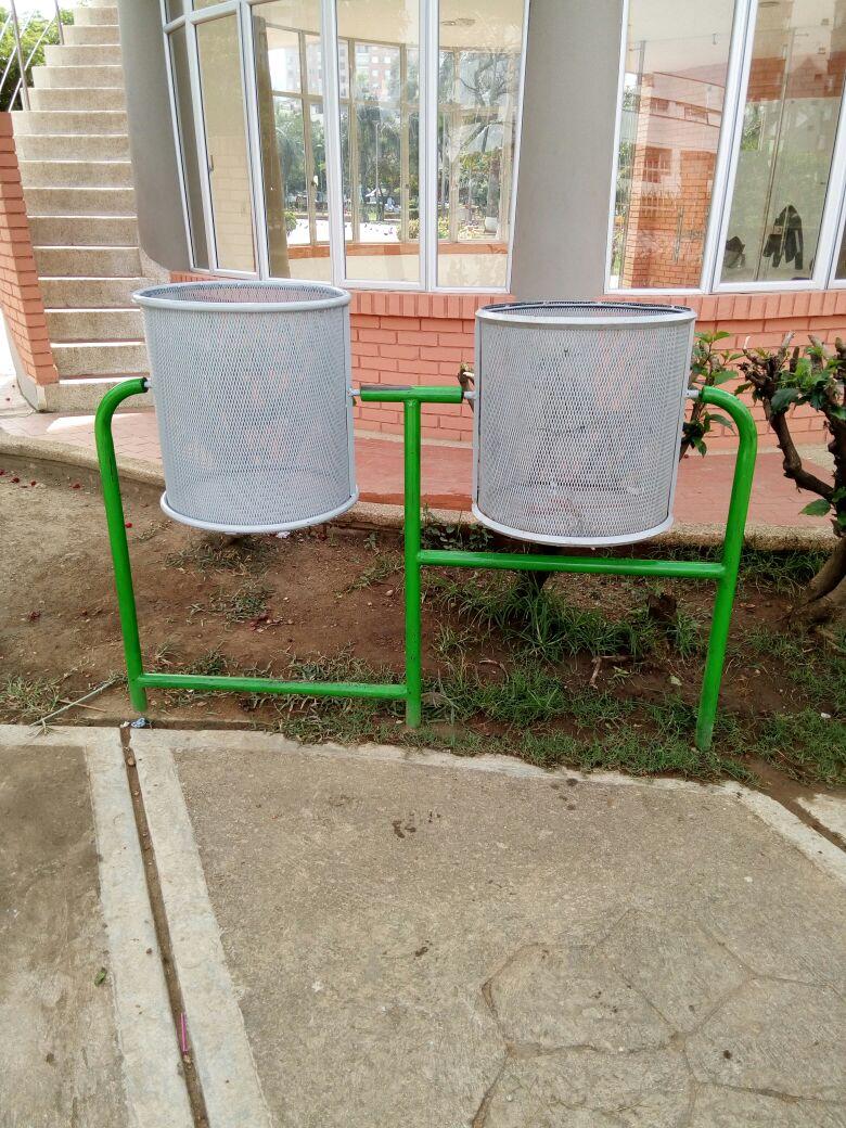 """Cestas para """"Mantener"""" la cultura ciudadana en el Parque """"Las Cigarras"""""""