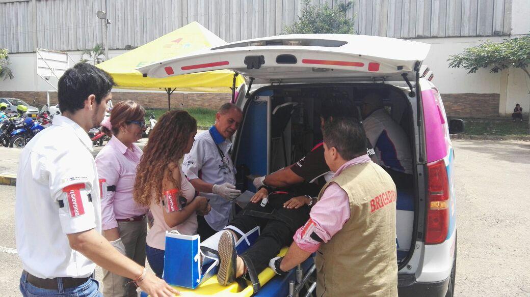 EMAB S.A E.S.P  participó en el Sexto Simulacro Nacional de Respuesta a Emergencias