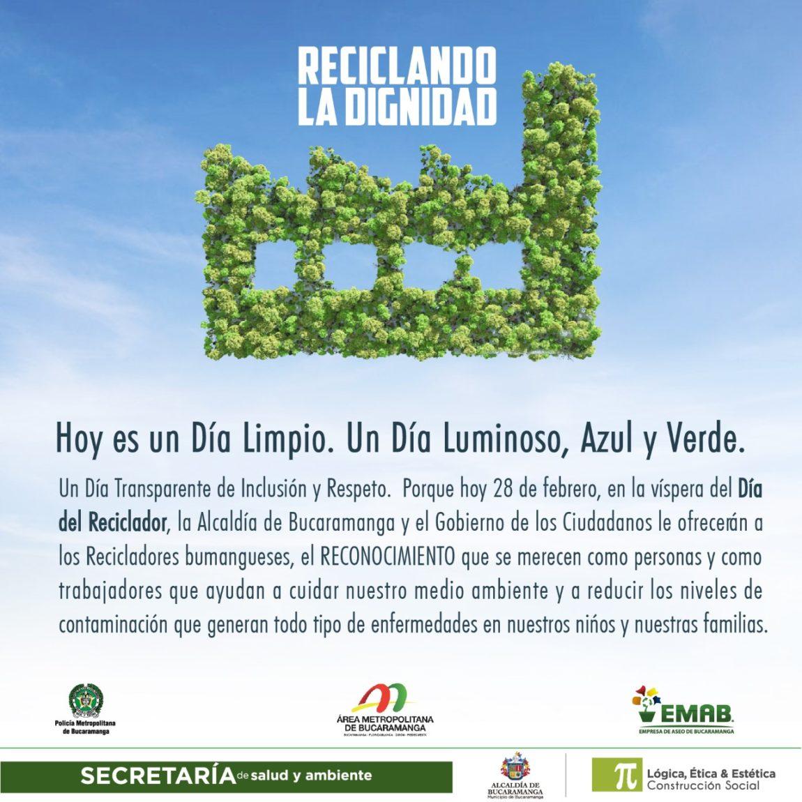 Reconocemos la labor de quienes ayudan a construir una Bucaramanga limpia