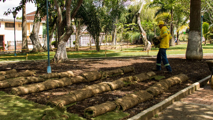 Bucaramanga verde: EMAB embellece el parque Bruno Botello en el barrio Mutis
