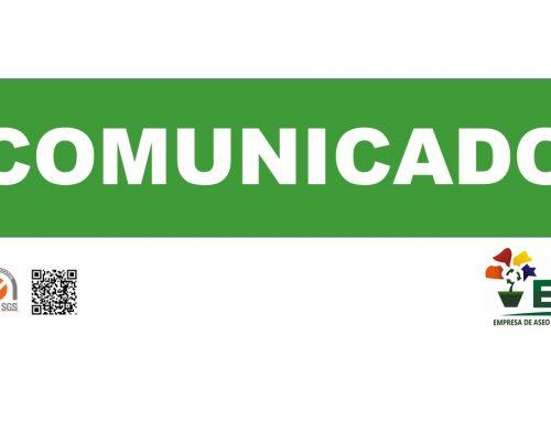 Comunicado Oficial 16 de Agosto de 2021