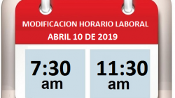 Horario Laboral 10 de abril de 2019