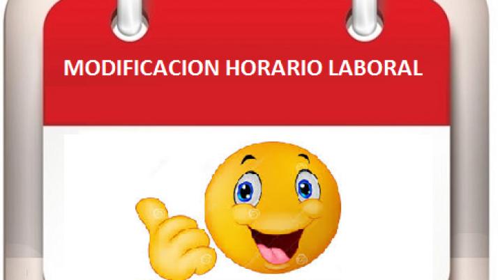Modificación horario de trabajo y atención al publico el día 27 de septiembre de 2019